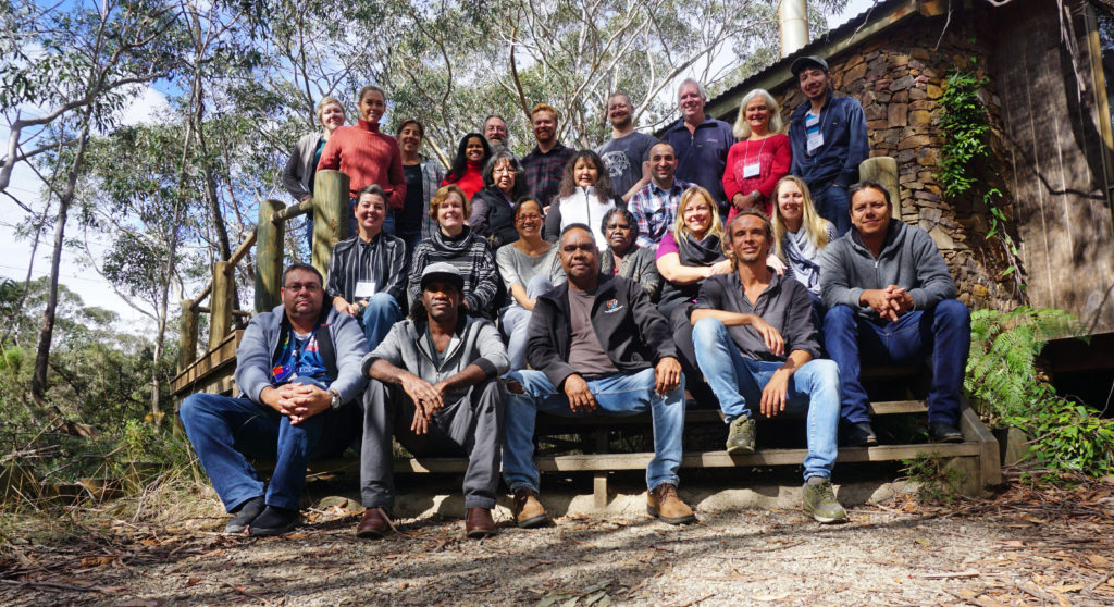 Photo of participants in the Healthy Country Planning Training in Blackheath, New South Wales. Photo by Frank Weisenberger.